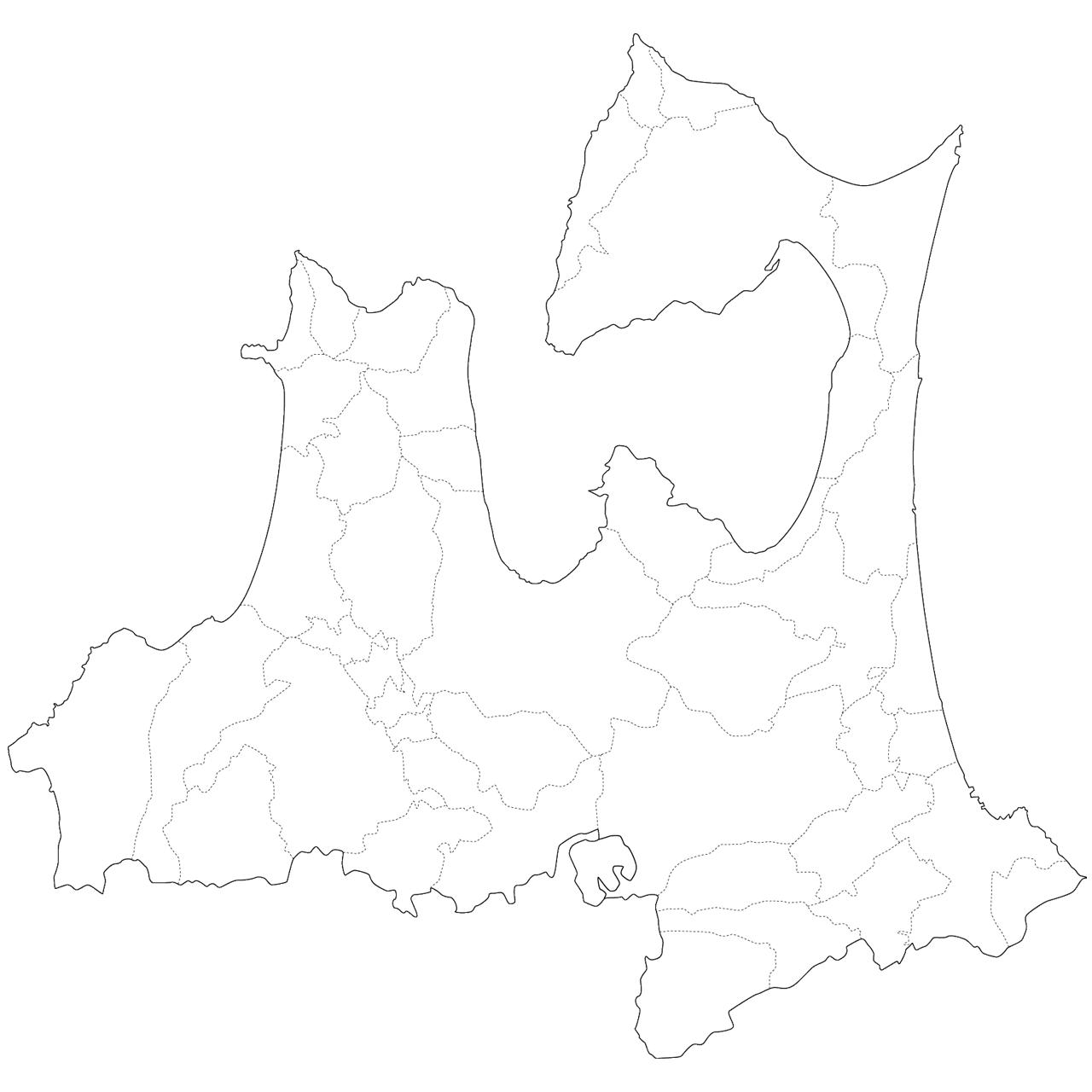 日本 日本 県 : 日本地図イラスト集 - 青森県 ...