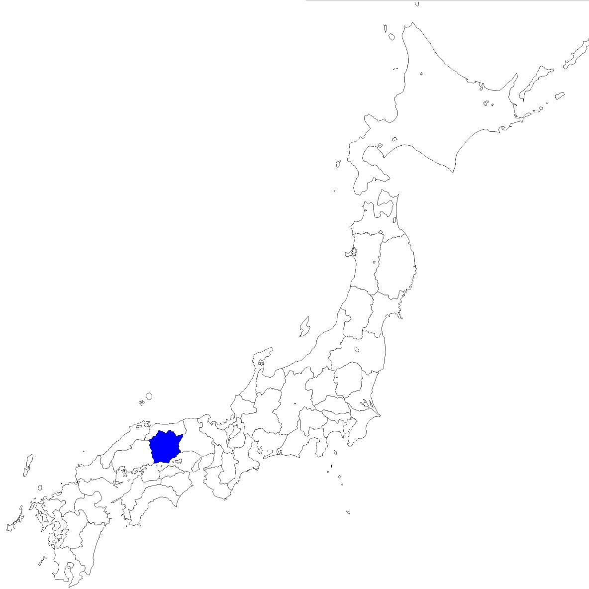 地図イラスト見本(縮小表示) : 中部 白地図 : 白地図