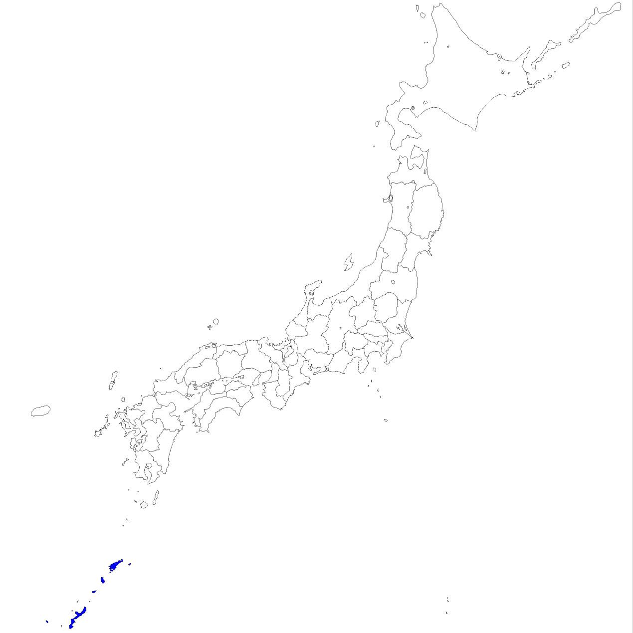 沖縄県地図イラスト 日本地図 ...