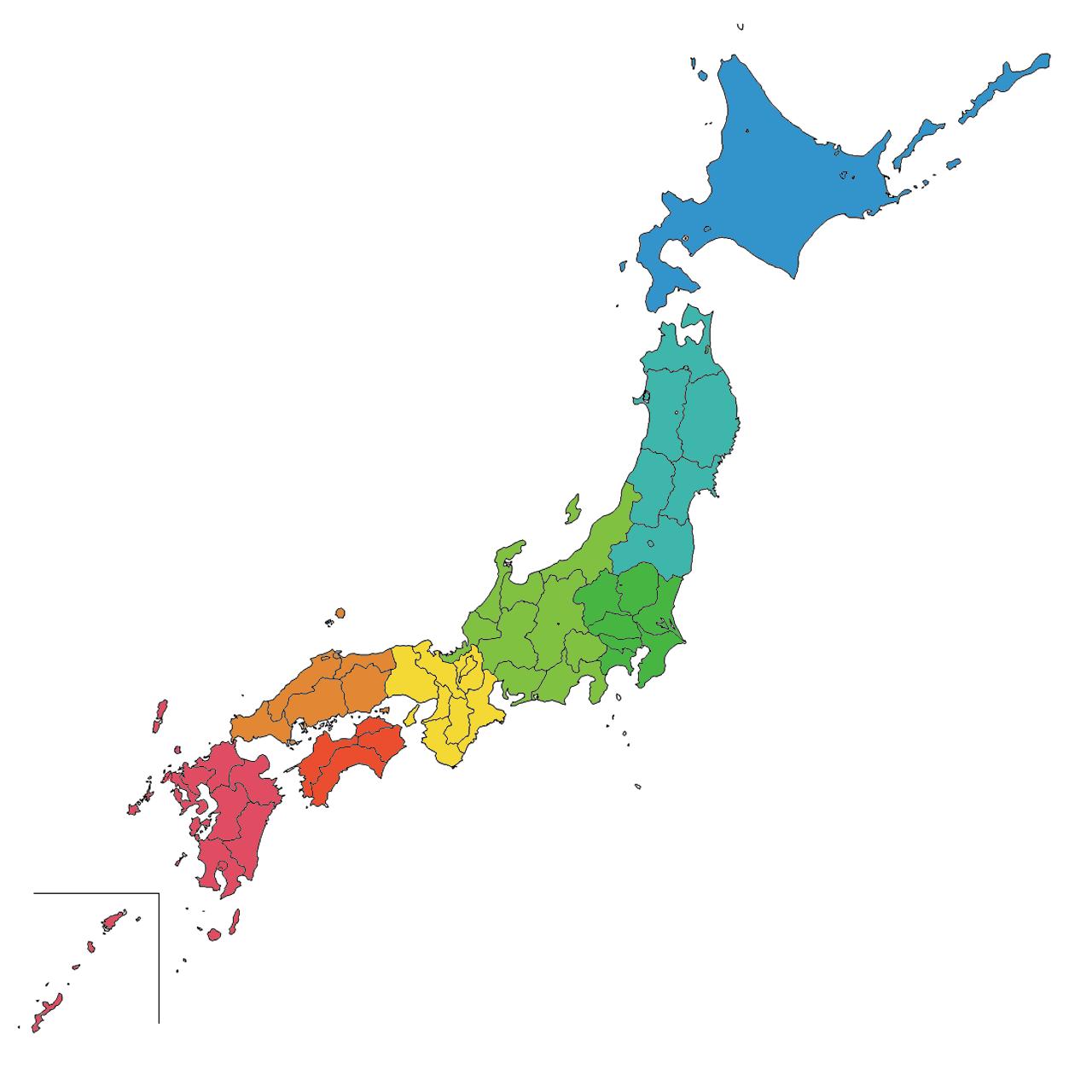 日本 日本地図 東北地方 : 完全無料の日本地図イラスト集 ...